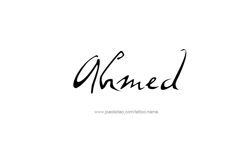 Tattoo Design  Name Ahmed