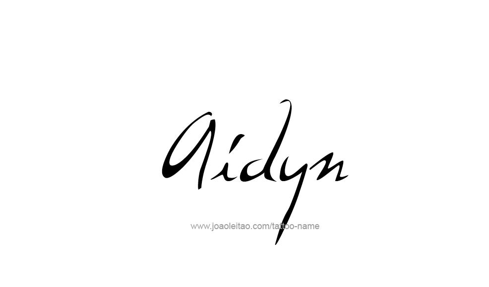 Tattoo Design  Name Aidyn
