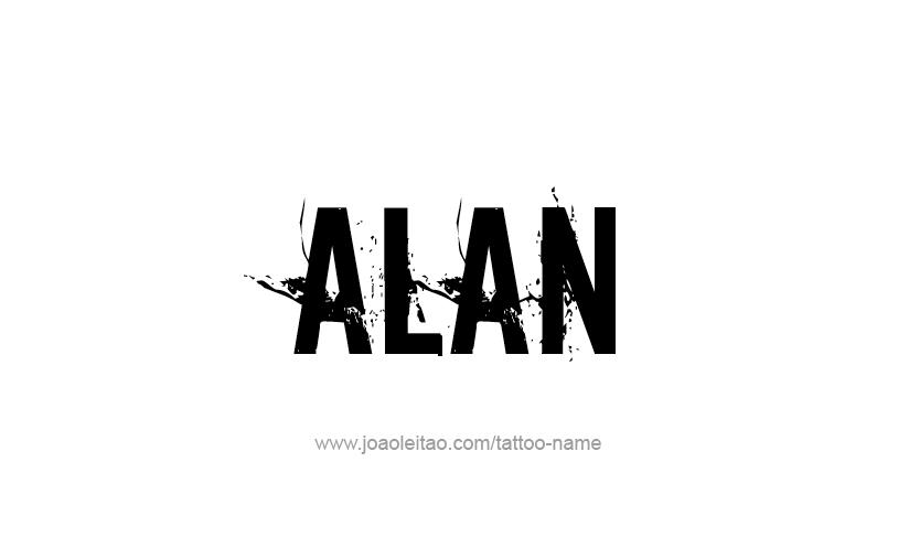 Tattoo Design  Name Alan