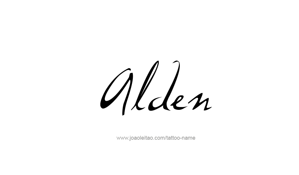 Tattoo Design  Name Alden