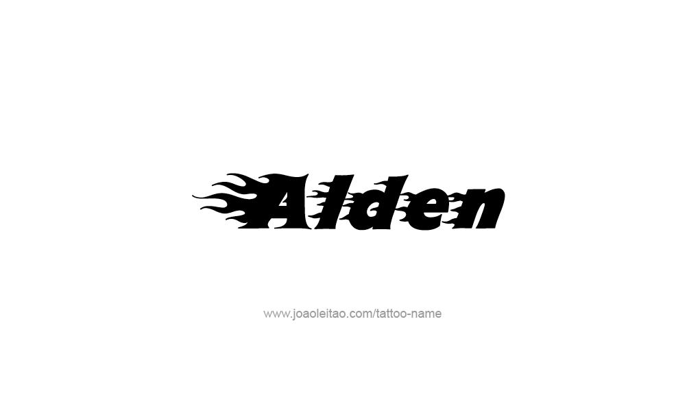 Tattoo Design  Name Alden