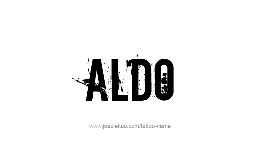 Tattoo Design  Name Aldo