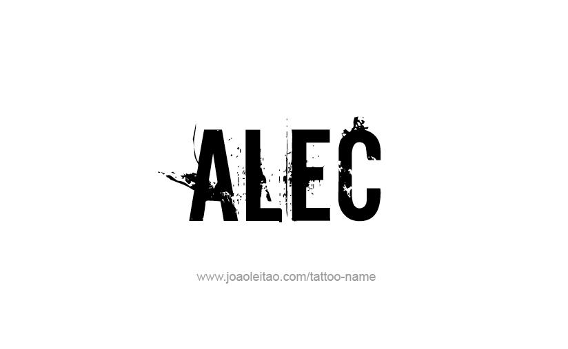 Tattoo Design  Name Alec