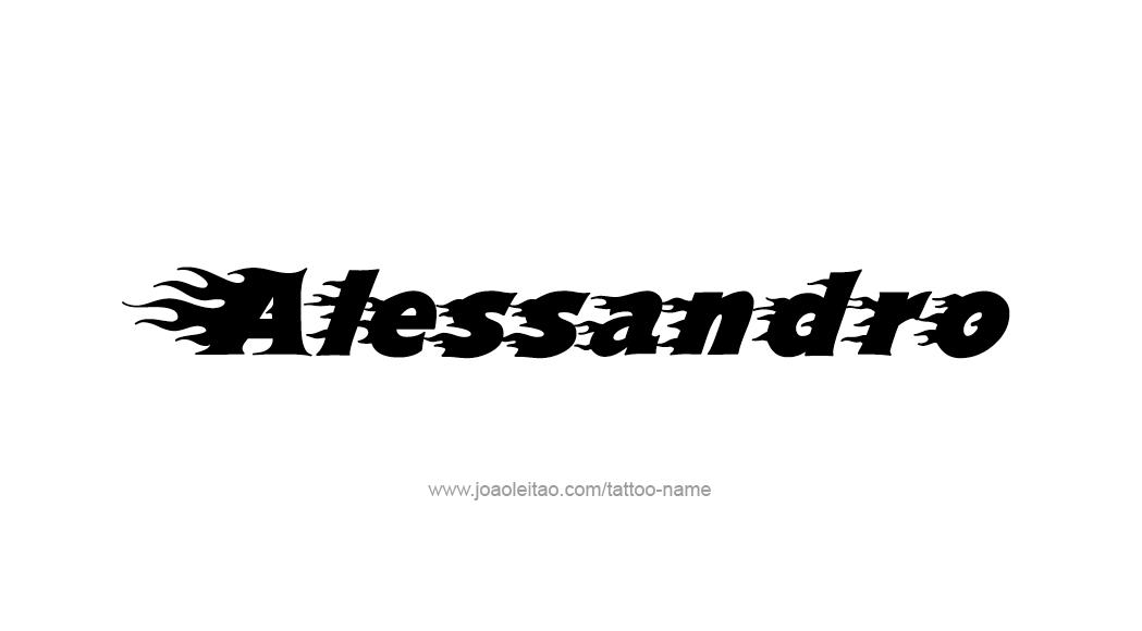 Tattoo Design  Name Alessandro
