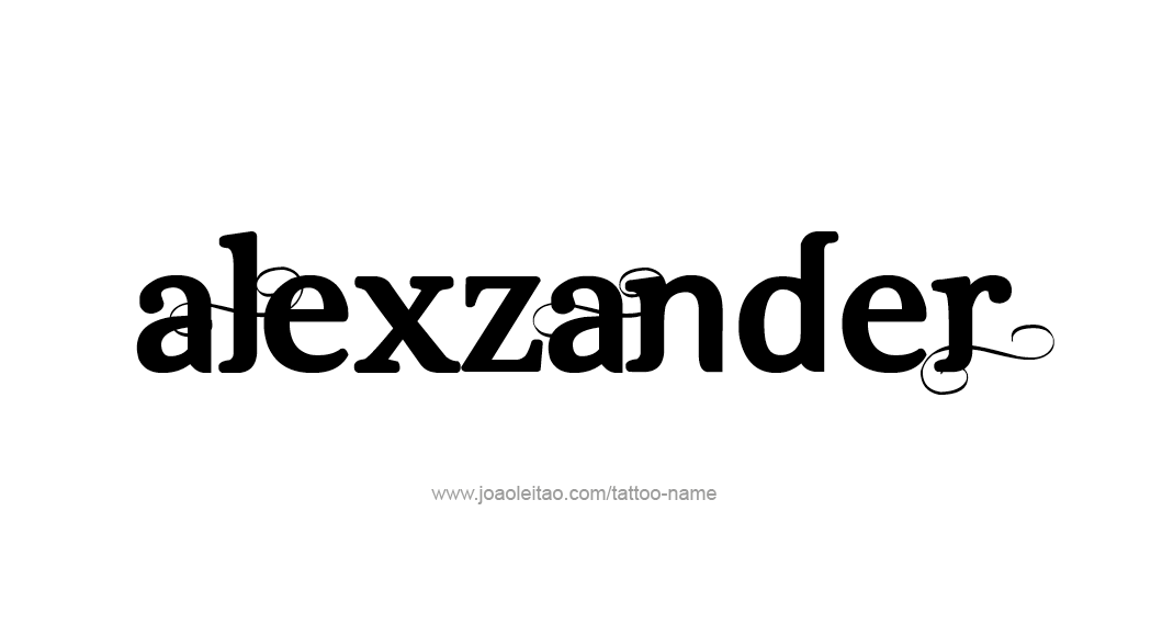 Tattoo Design  Name Alexzander