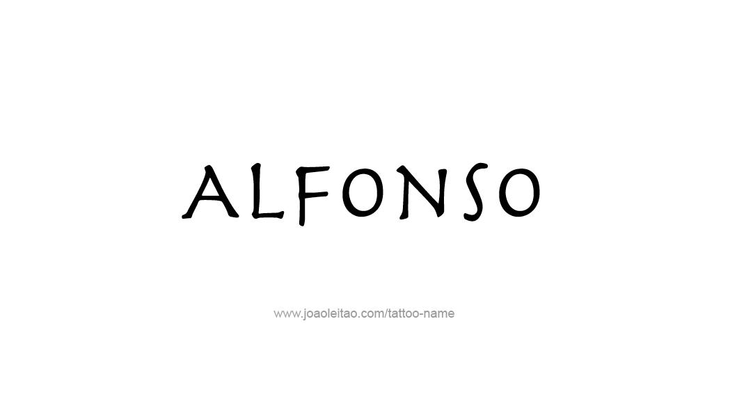 Tattoo Design  Name Alfonso
