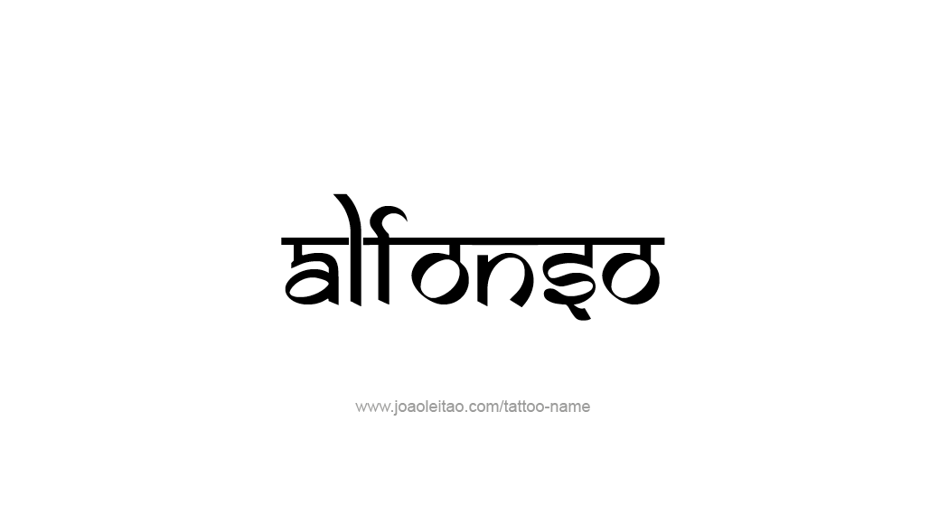 Tattoo Design  Name Alfonso