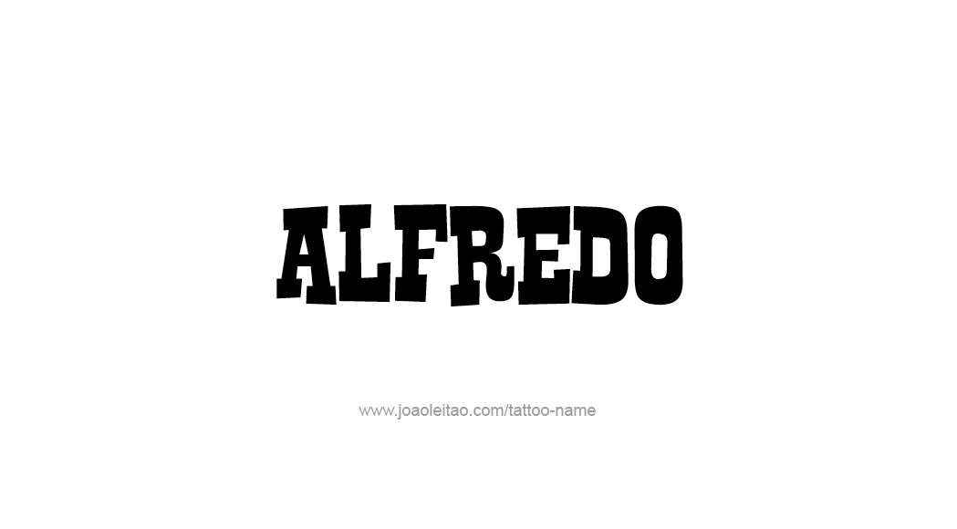 Tattoo Design  Name Alfredo