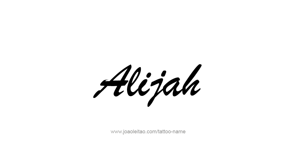 Tattoo Design  Name Alijah