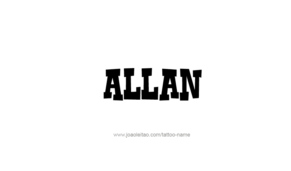 Tattoo Design  Name Allan