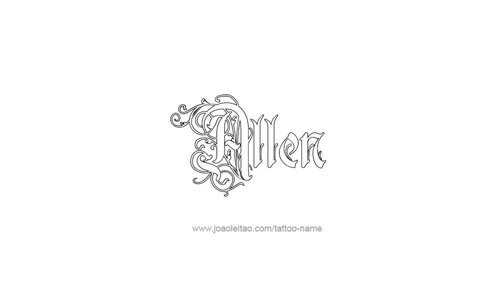 Tattoo Design  Name Allen