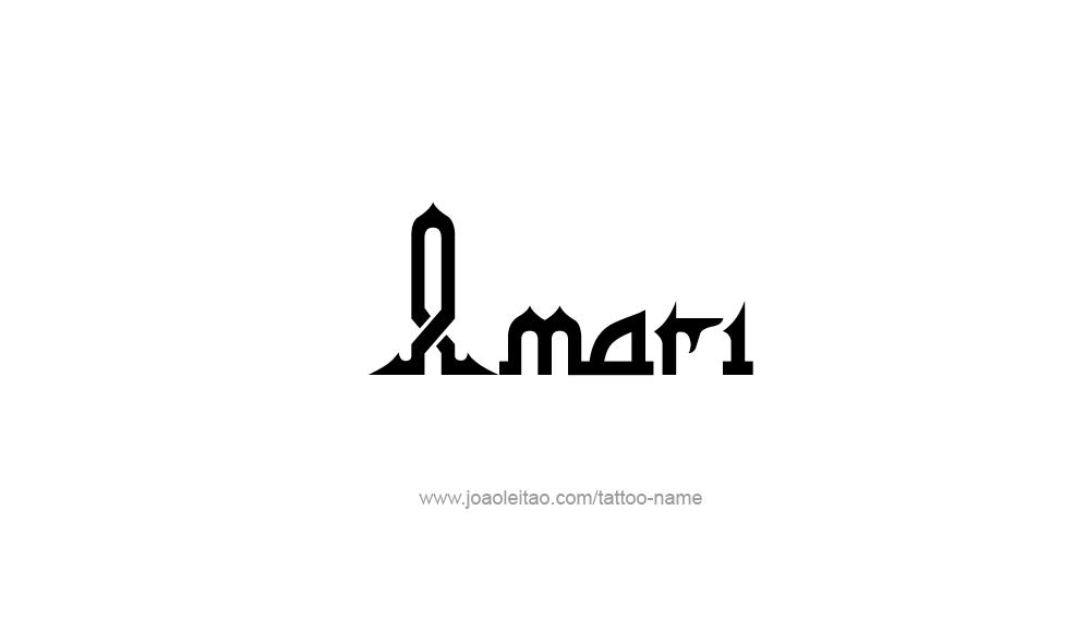 Tattoo Design  Name Amari