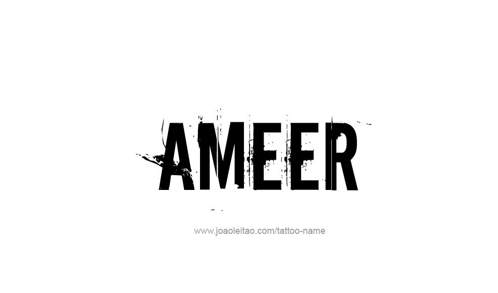 Tattoo Design  Name Ameer