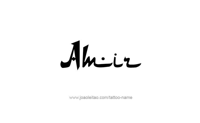 Tattoo Design  Name Amir