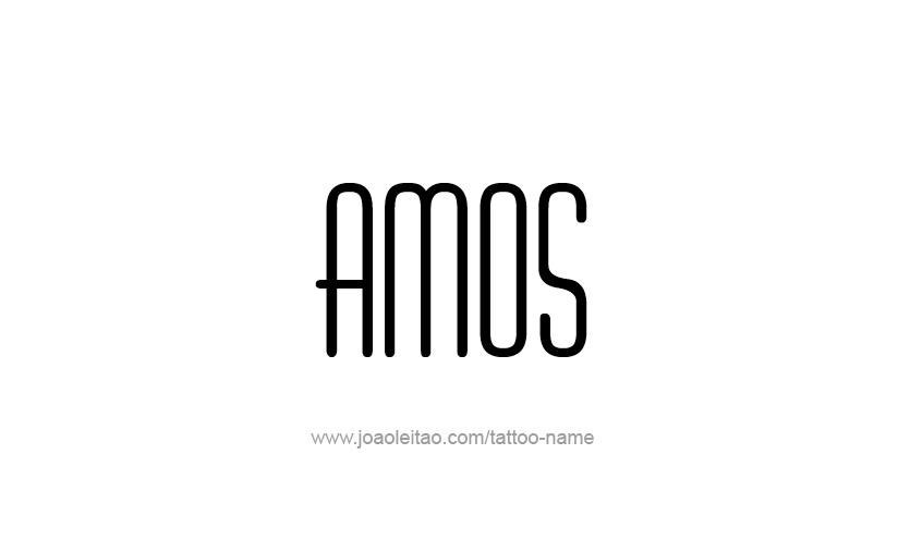 Tattoo Design  Name Amos