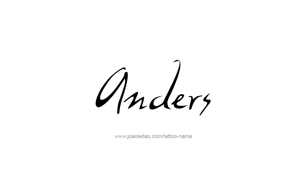 Tattoo Design  Name Anders