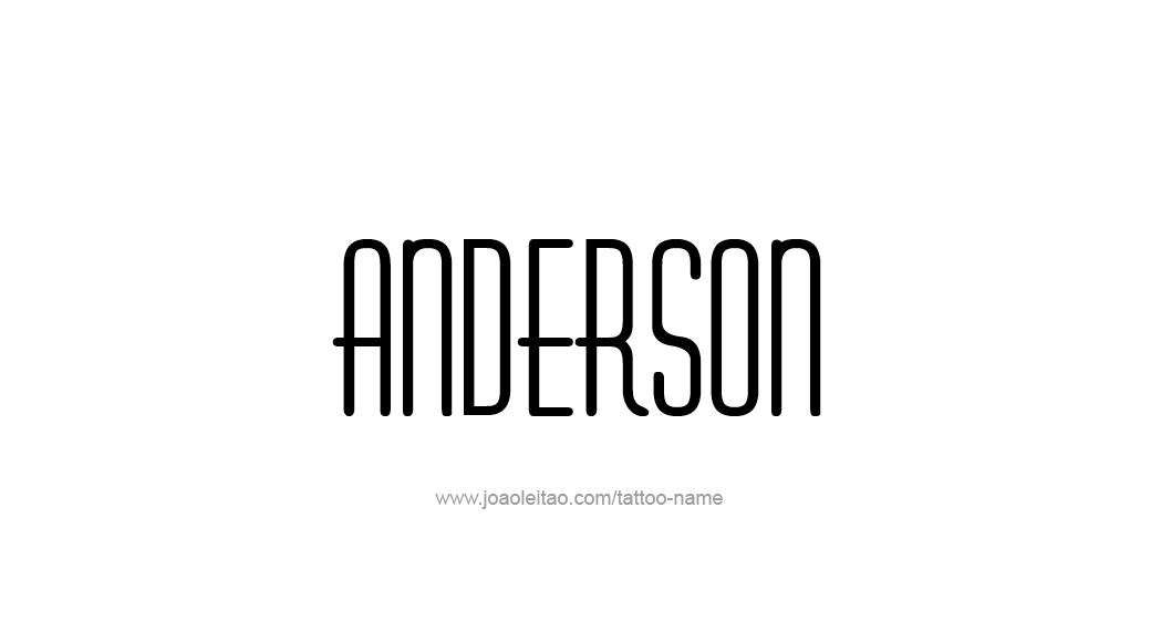 Tattoo Design  Name Anderson