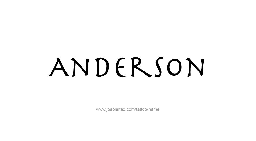 Tattoo Design  Name Anderson