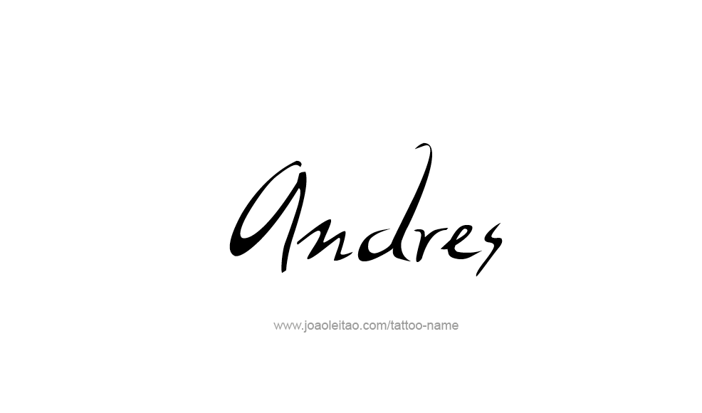 Tattoo Design  Name Andres