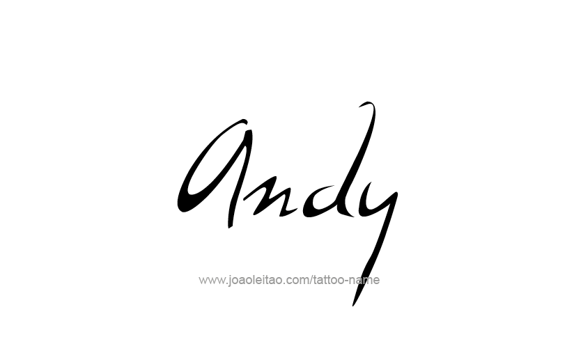 Tattoo Design  Name Andy