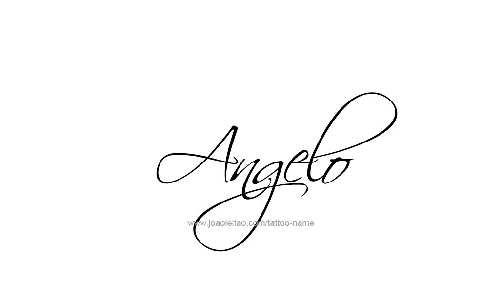Tattoo Design  Name Angelo