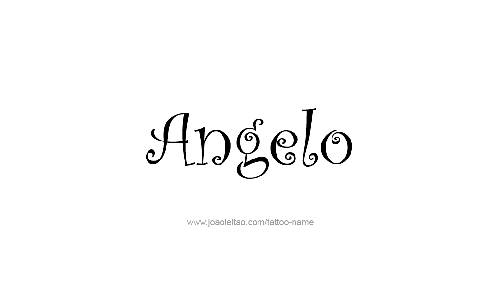 Tattoo Design  Name Angelo