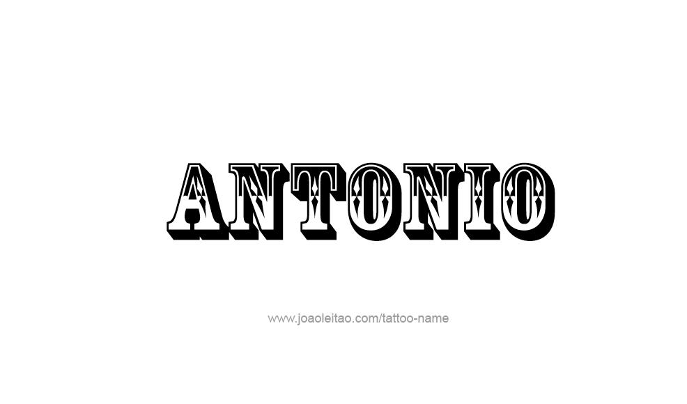 Tattoo Design  Name Antonio