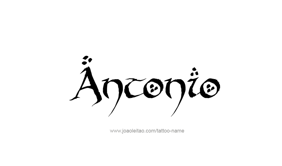 Tattoo Design  Name Antonio