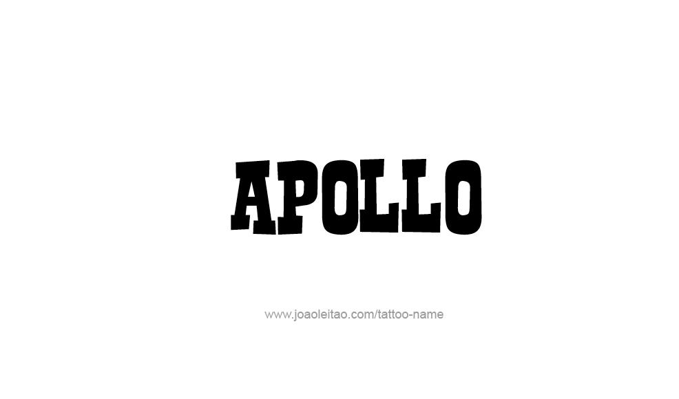 Tattoo Design  Name Apollo