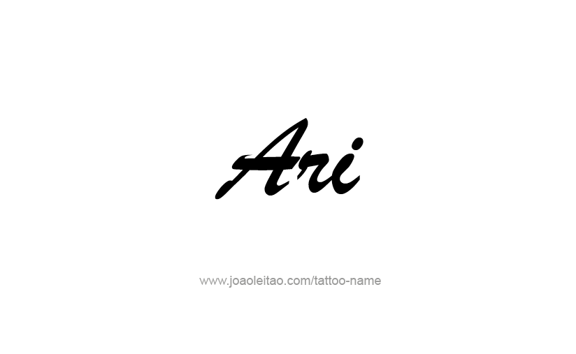 Tattoo Design  Name Ari