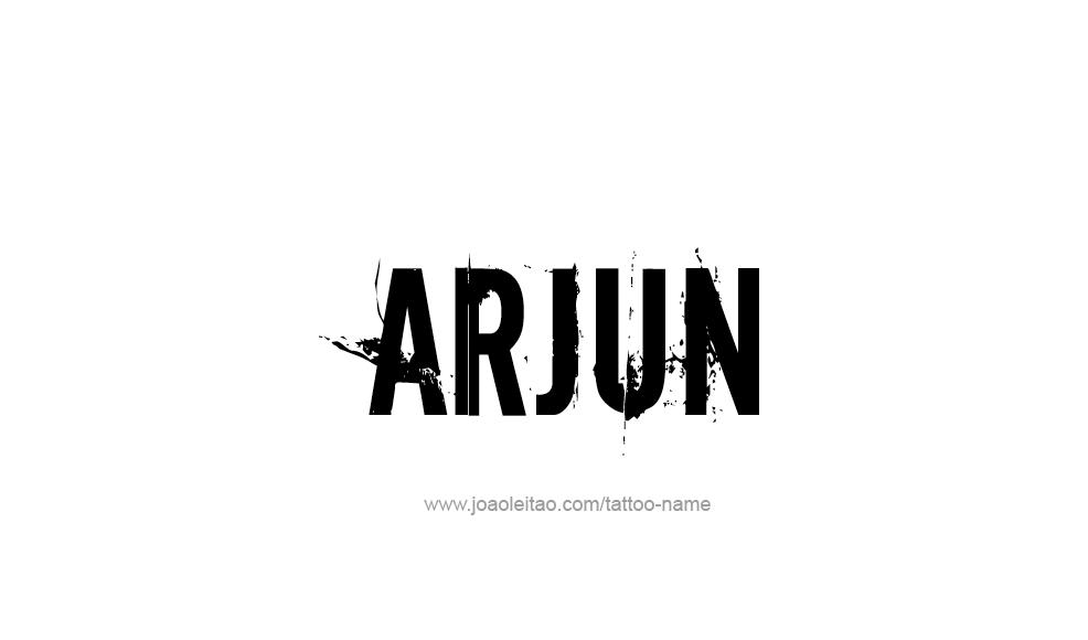 Tattoo Design  Name Arjun