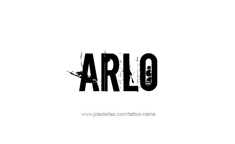Tattoo Design  Name Arlo