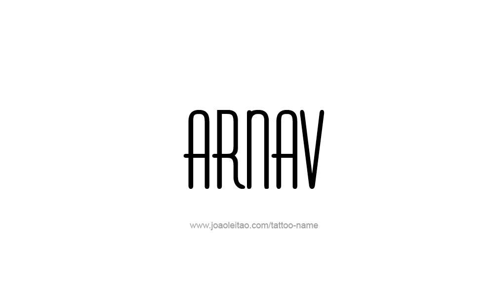 Tattoo Design  Name Arnav