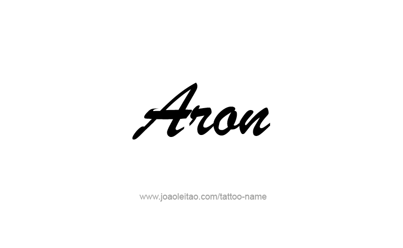 Tattoo Design  Name Aron