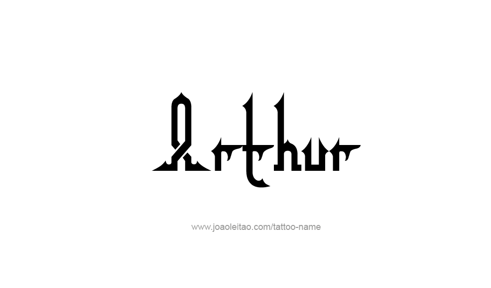 Tattoo Design  Name Arthur