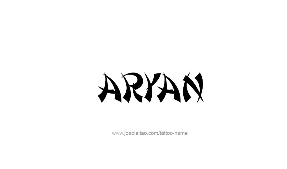 Tattoo Design  Name Aryan