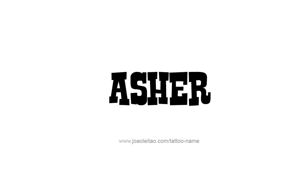 Tattoo Design  Name Asher