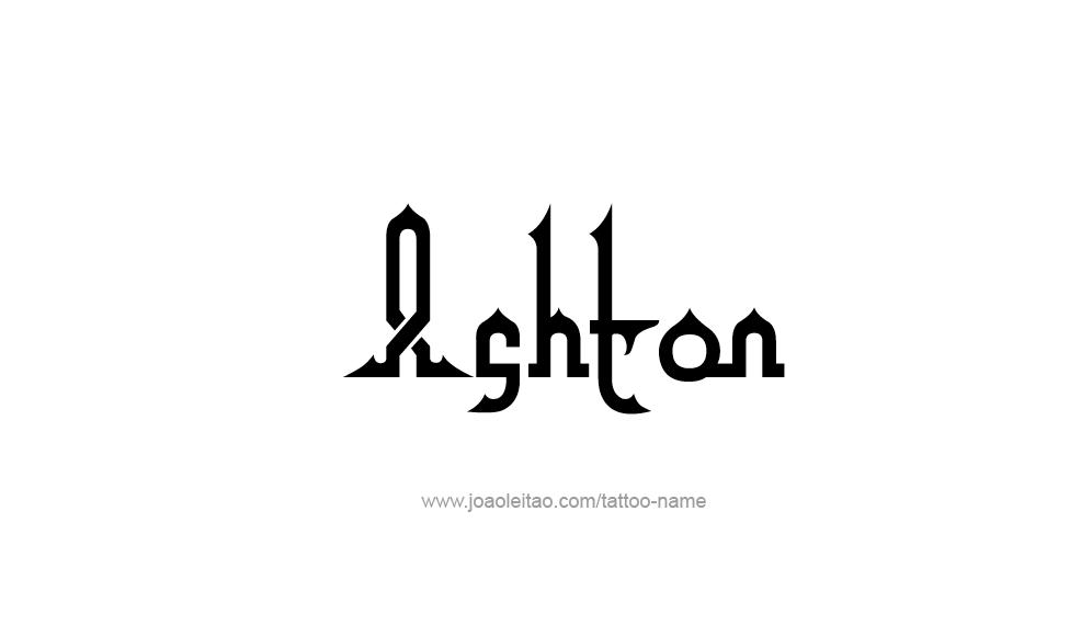 Tattoo Design  Name Ashton