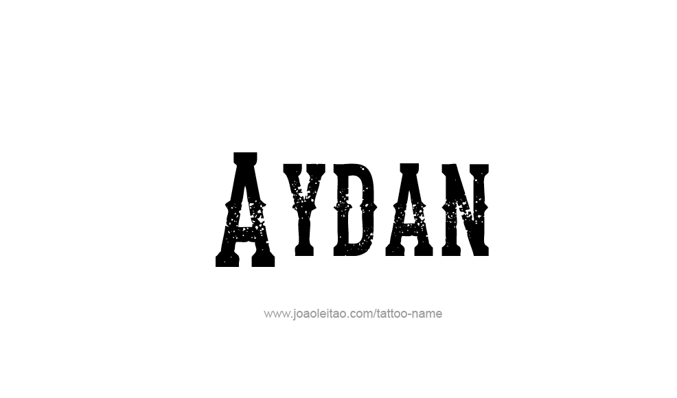 Tattoo Design  Name Aydan