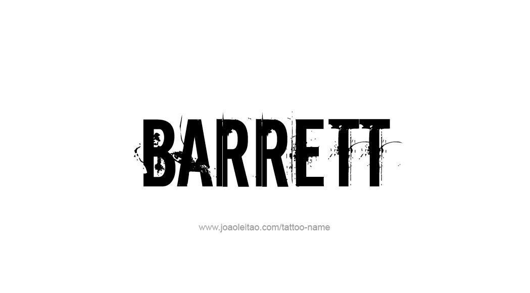 Tattoo Design  Name Barrett