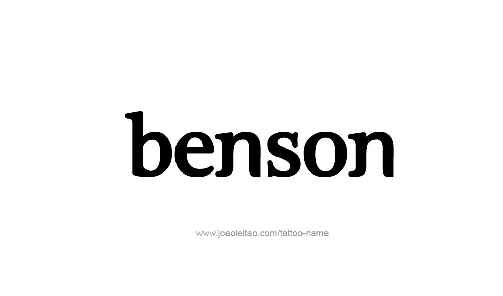 Tattoo Design  Name Benson