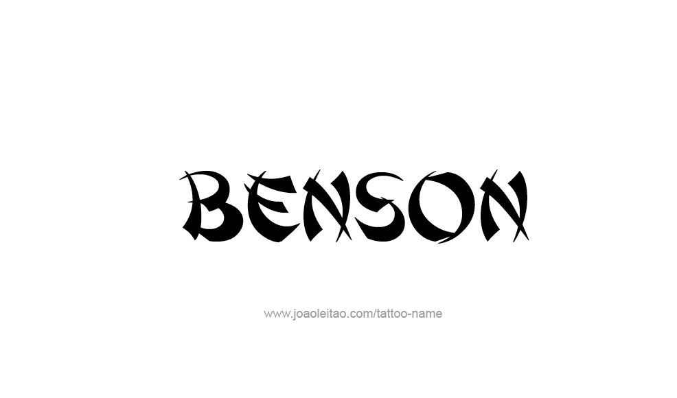 Tattoo Design  Name Benson
