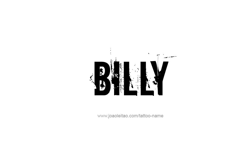 Tattoo Design  Name Billy