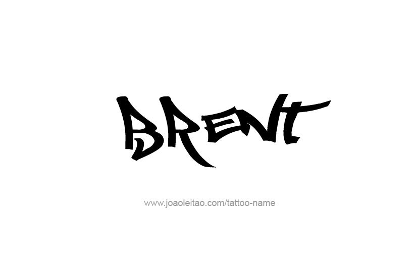 Tattoo Design  Name Brent