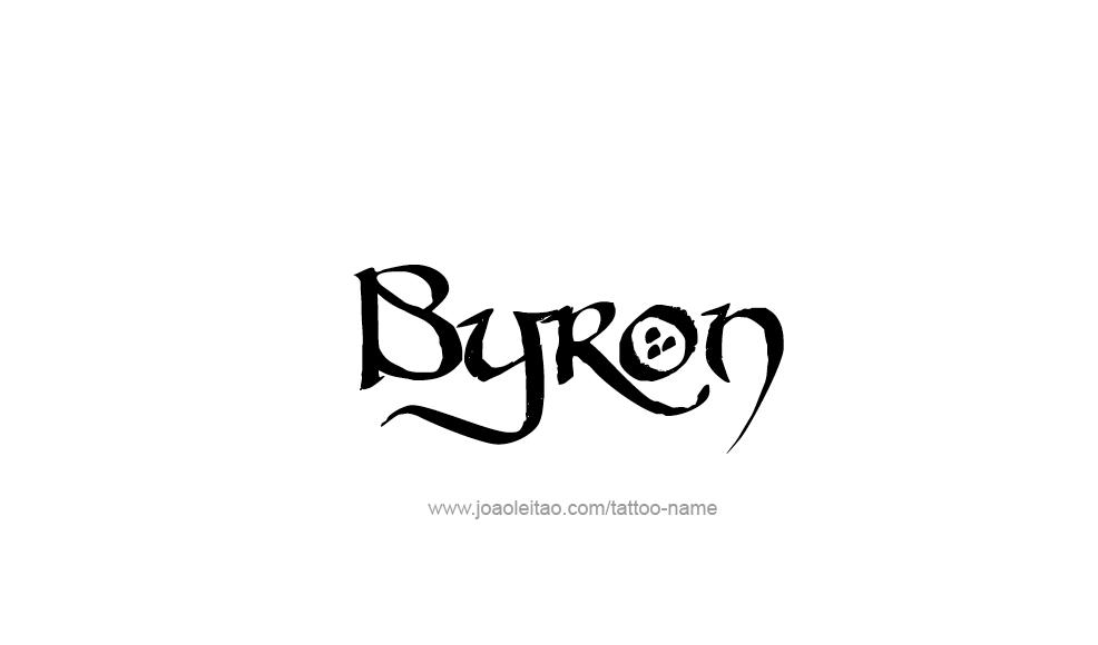 Byron Name Tattoo Designs