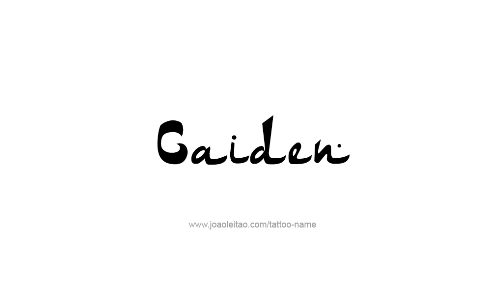 Tattoo Design  Name Caiden