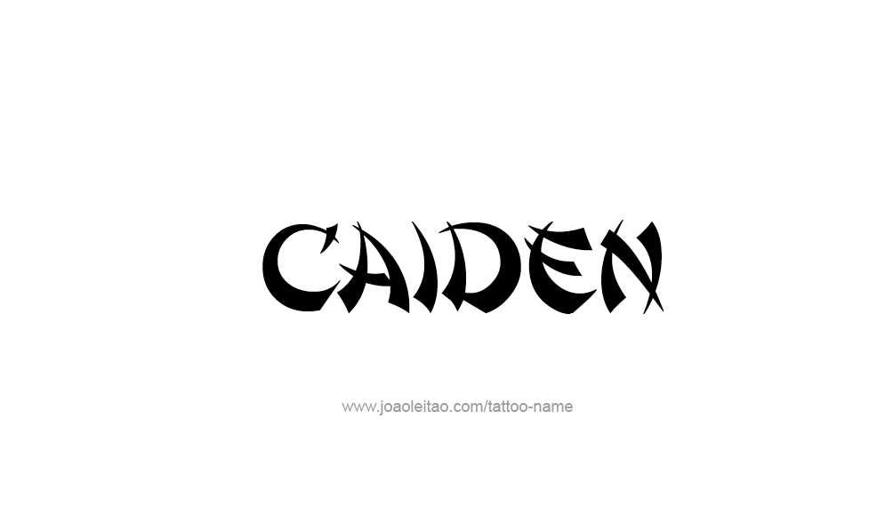 Caiden Name Tattoo Designs