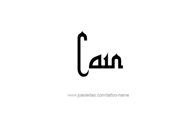 Tattoo Design  Name Cain