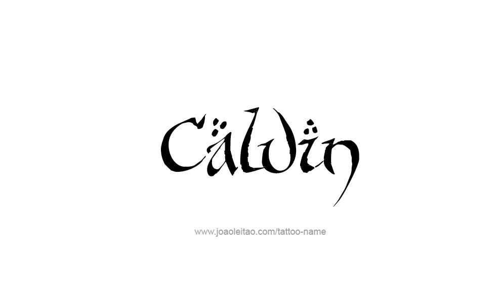 Tattoo Design  Name Calvin