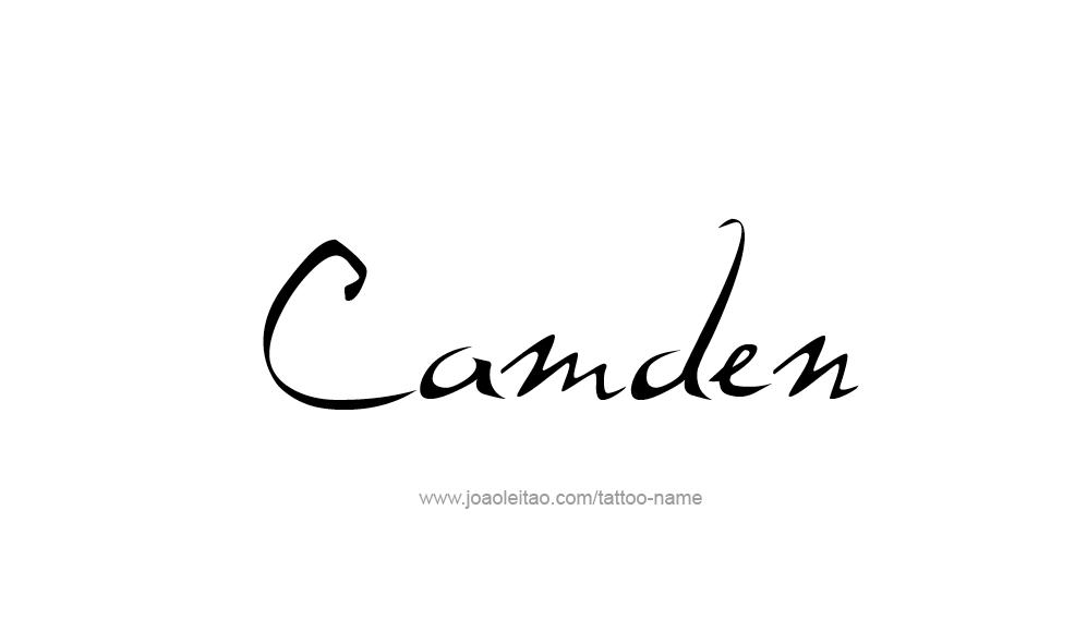Tattoo Design  Name Camden